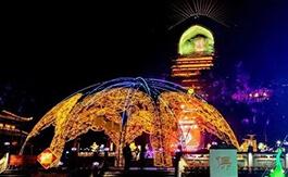 自贡荣县大佛文化灯会
